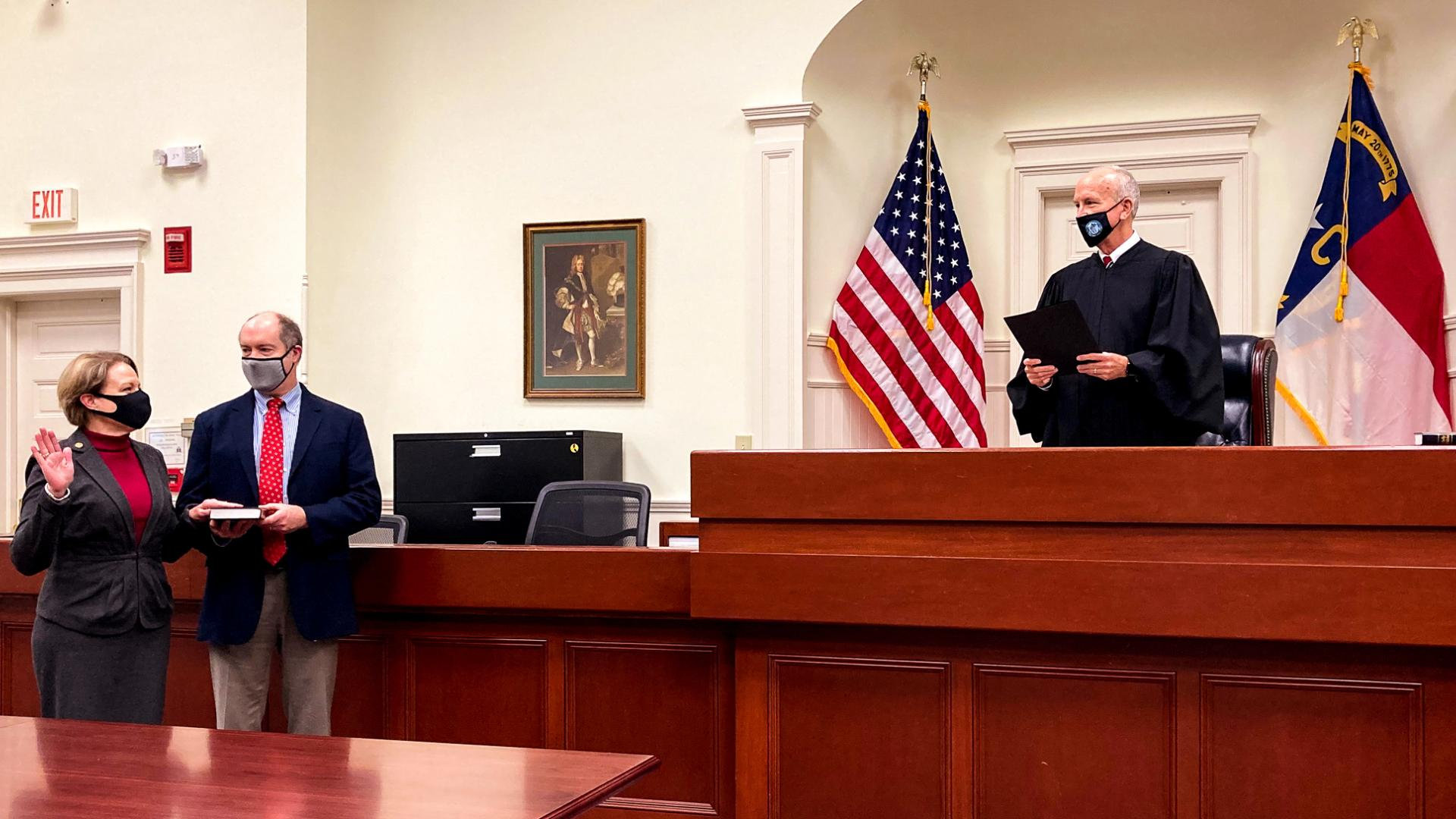 Donna Stroud Takes Oath and Becomes Chief Judge of the North Carolina Court of Appeals