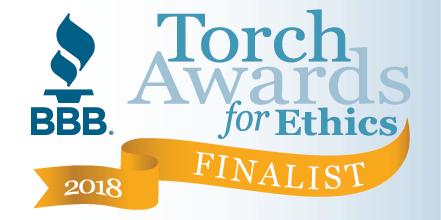 Better Business Bureau Torch Awards for Ethics 2018 Finalist