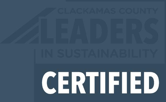 Clackamas County Leaders In Sustainability Certified Logo