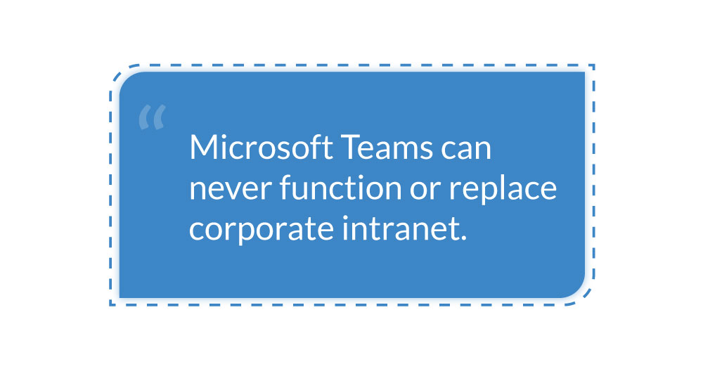 microsoft-teams-replace-sharepoint-intranet-quote