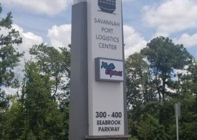 Savannah Port Logistics Center Seabrook Parkway Custom Environmental Grpahics by Option Signs