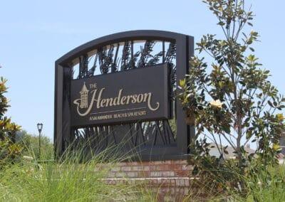 The Henderson a Salamander Beach & Spa Resort Monument Sign