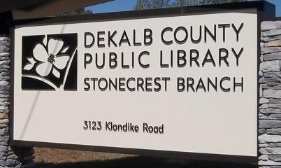 Option Signs Custom Signs Atlanta Alabama Dekalb Public Library