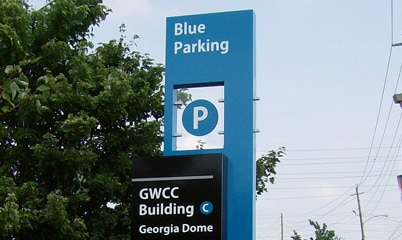 Option Signs Custom Signs GWCC Georgia Dome Stadium Parking