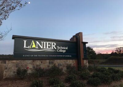 Lanier Technical College of Georgia Custom Signage Monument by Option Signs