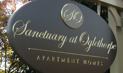 Option Signs Custom Signs Apartment Homes Sanctuary at Ogelthorpe