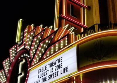 Eagle Theater at Sugar Hill Custom Marquee Built by Option Sign
