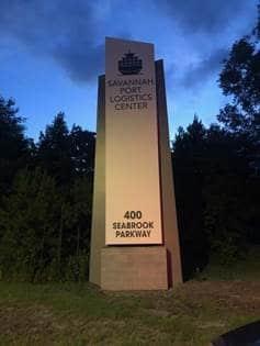 Savannah Port Logistics Center 30' Monument Custom Sign by Option Signs