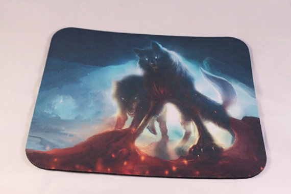 wolves,mouse pad,dirty dober