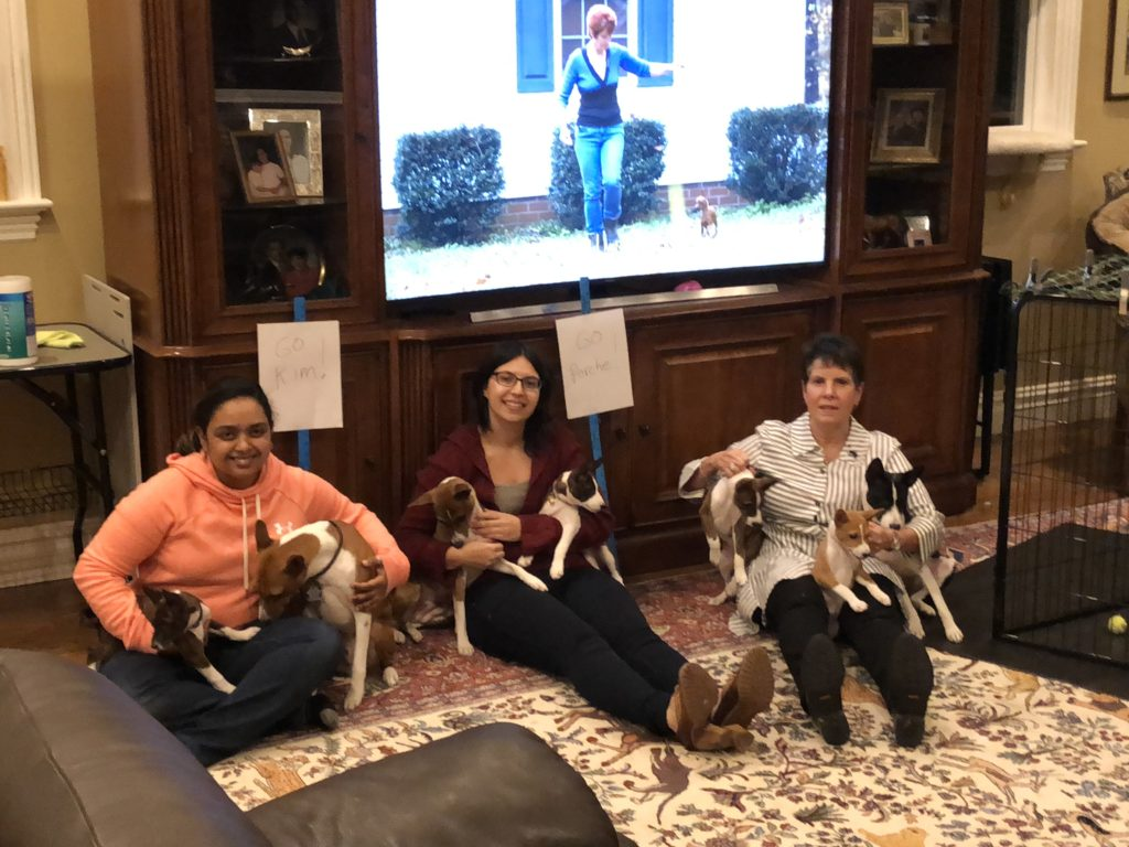 Cheering Kim & Porsche before Westminster toy group