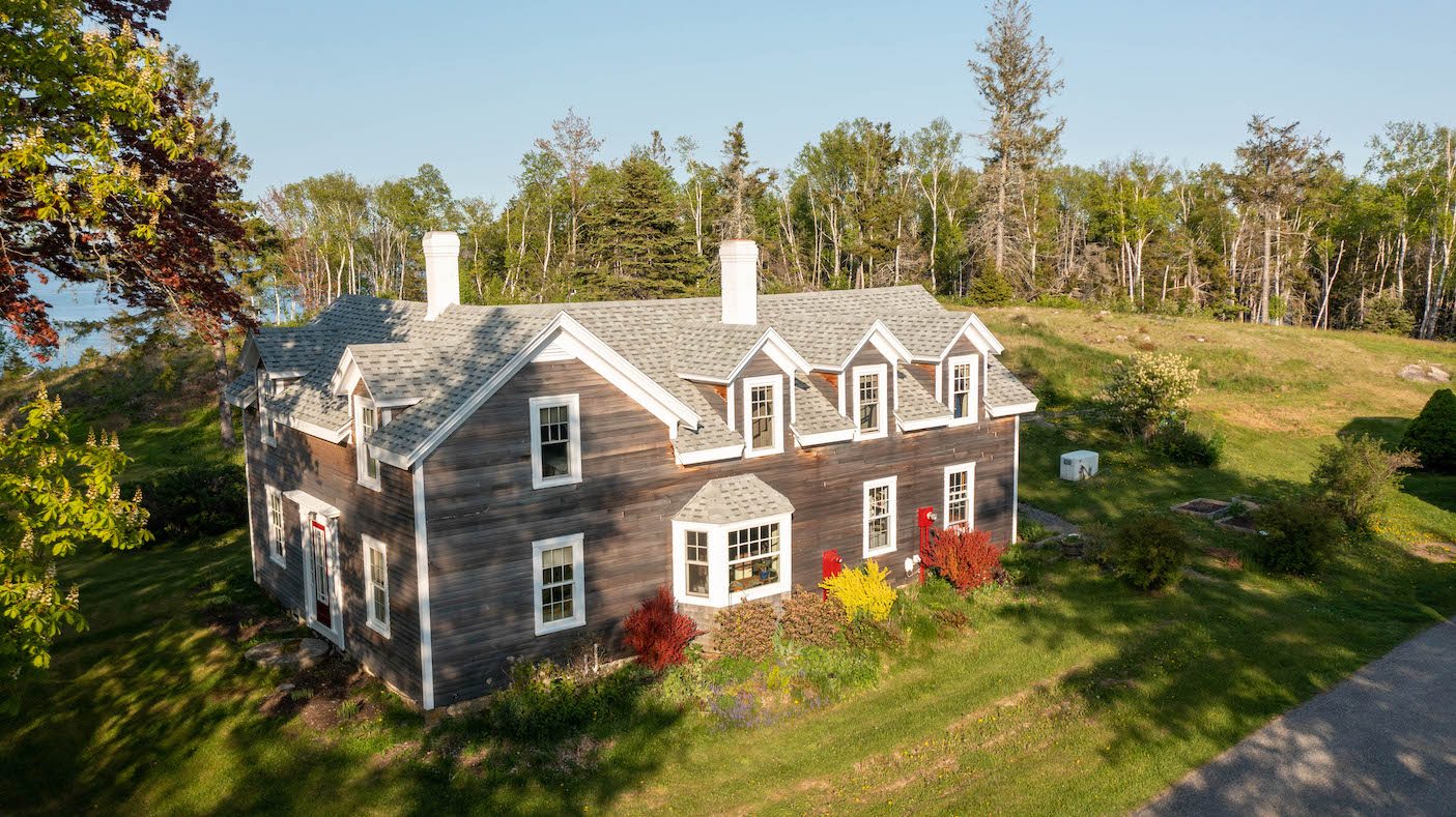 Waterfront Home in Lubec Maine up close