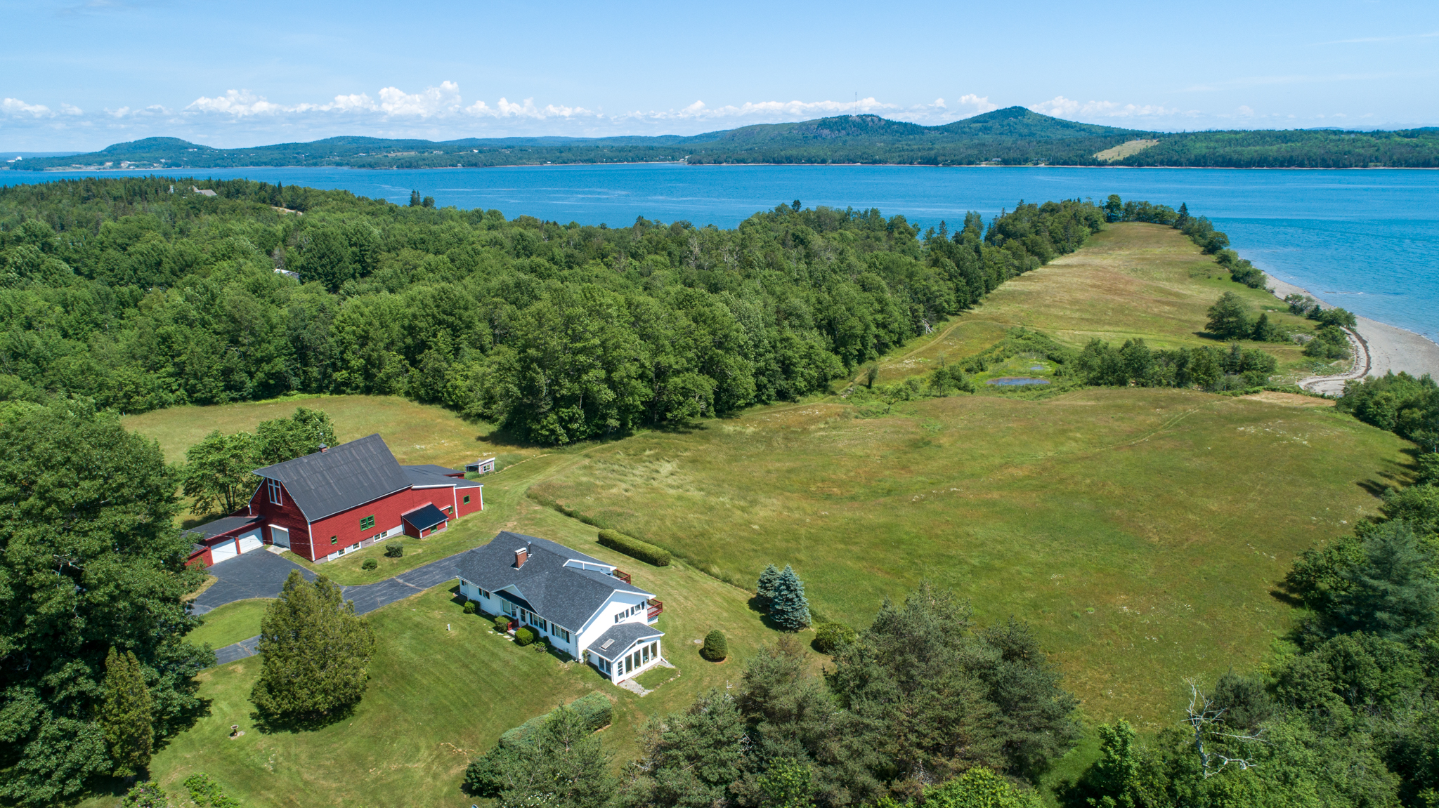 Waterfront home in Robbinston Maine with Sandy Beach.
