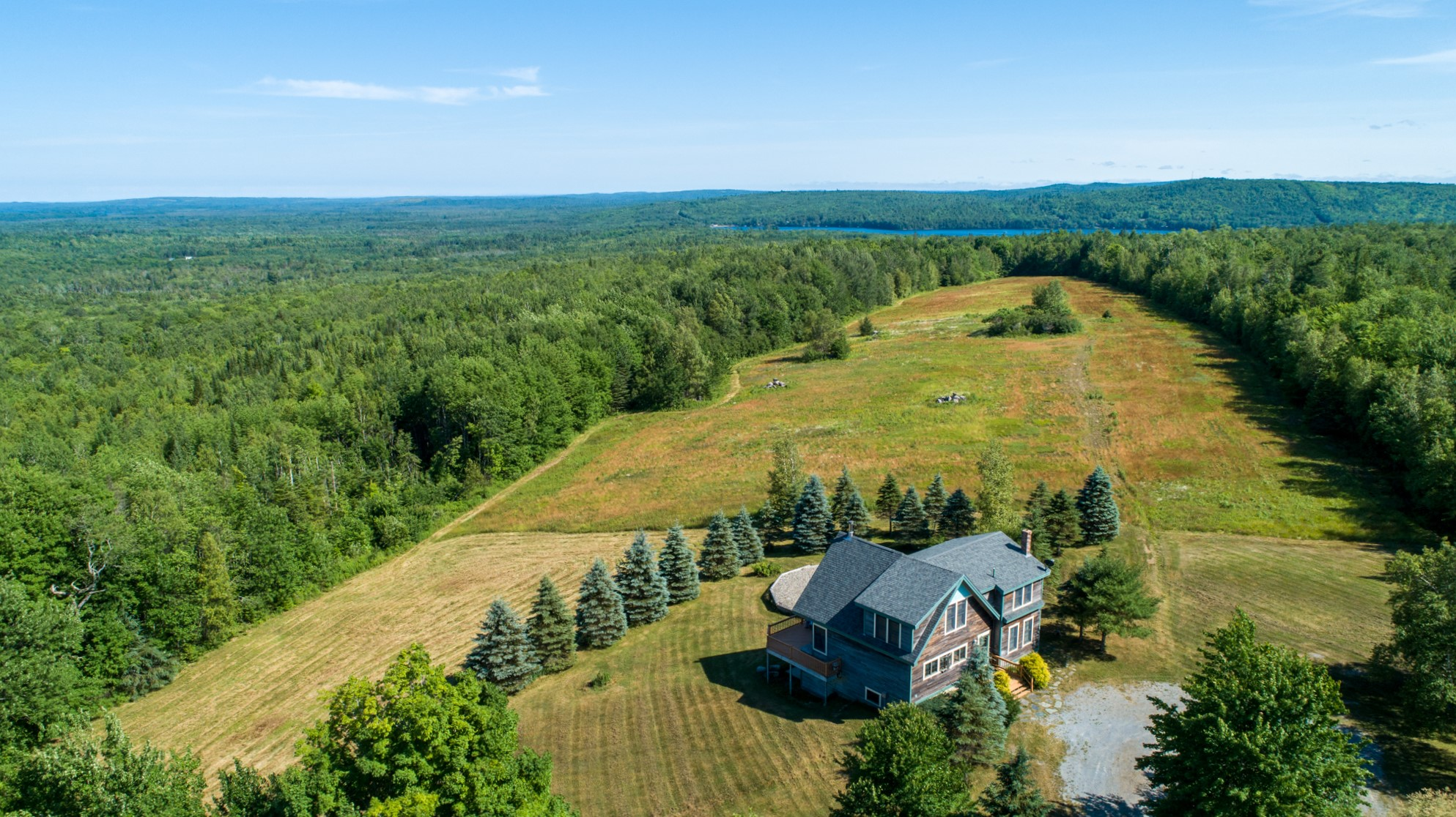Large acreage with home and big views!