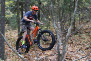 FATbike action at the Shop's Home Trail