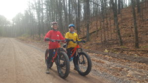 Local ladies come out to ride gravel in the late-Fall.