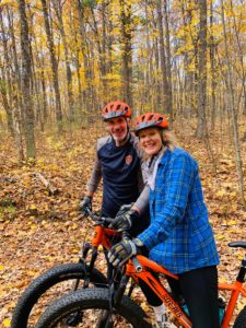 Couples connecting in Cable, WI while riding Fat Bike together!