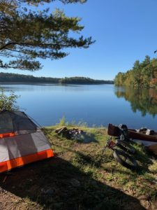 An Up North Guided Base Camp from which we camp, bike, hike, and canoe!