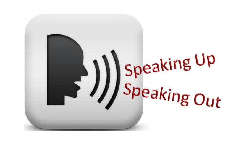 The power of speaking out