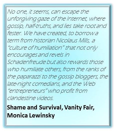 Monica Lewinski:  Shame and Survival, Vanity Fair