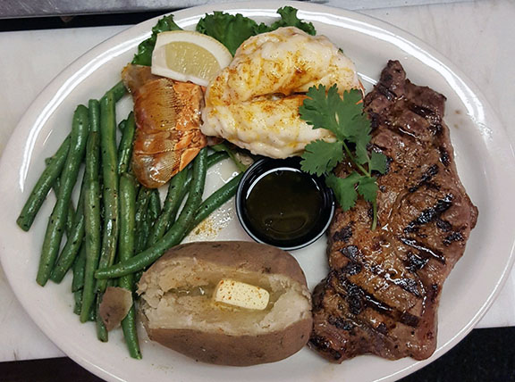 New York Cut Steak and Lobster Tail