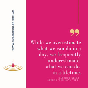 While we overestimate what we can do in a day