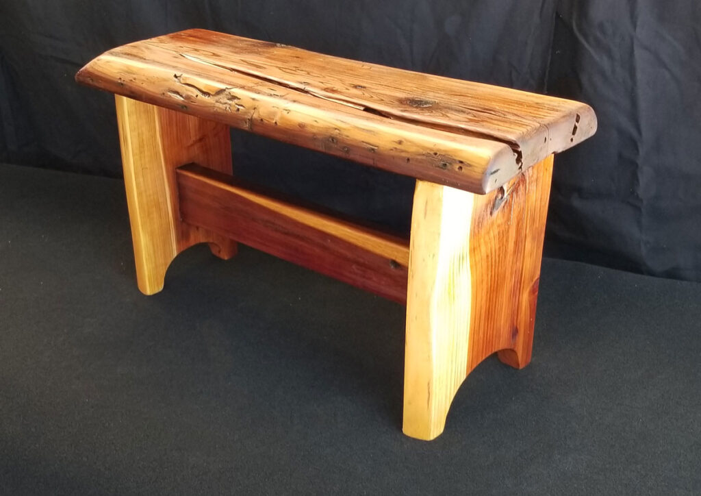 New Old Bench, Redwood