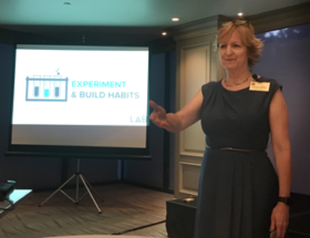 Laura Dewey leads NAWBO-OC in a workshop on Self-Regard