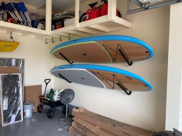 SUP wall rack for paddle board