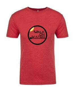 WoW men's logo tee red