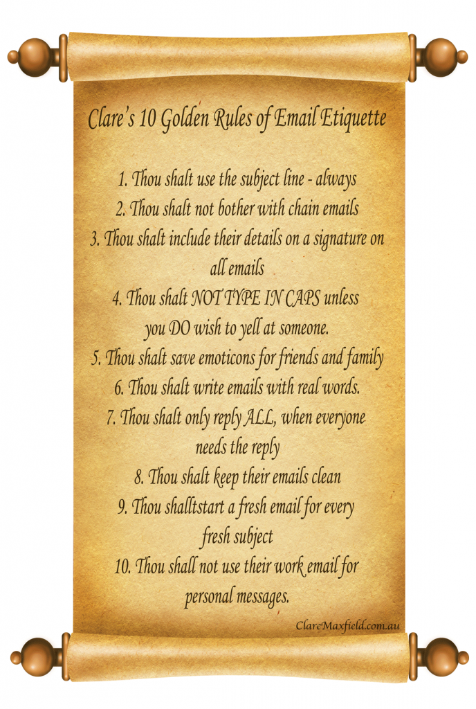 Golden Rules of Email Etiquette