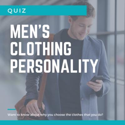 Men's clothing personality quiz