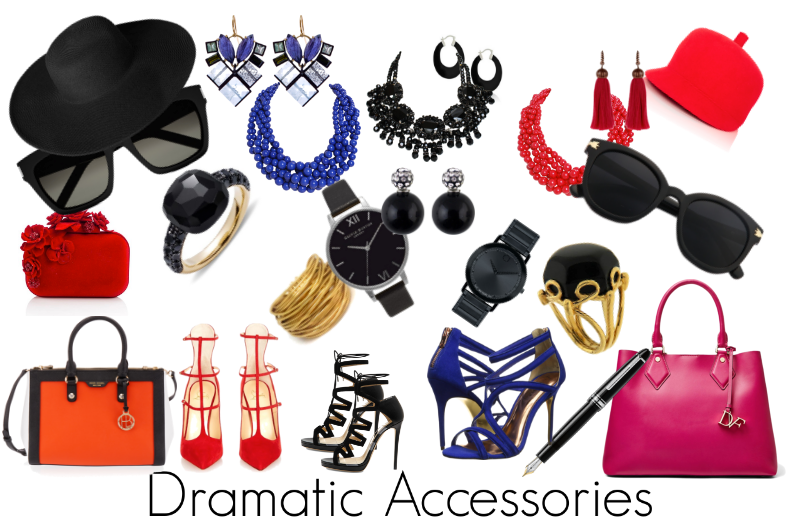 How the Dramatic Woman will Accessorise