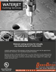 Waterjet Cutting Line Card
