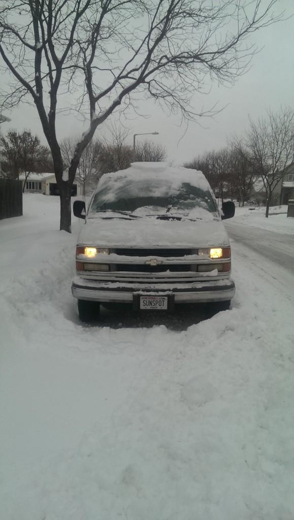 Snowy Sunspot van
