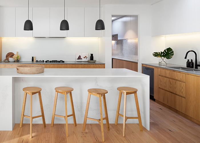 Image of Kitchen with 4 stools