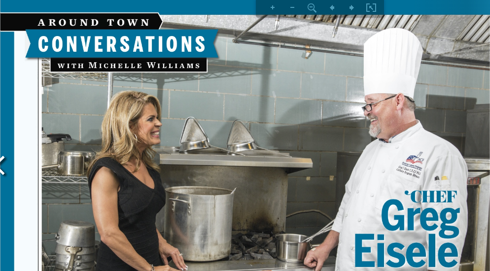 Michelle Williams with Chef Greg Eisele