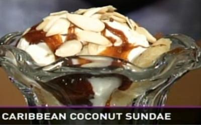 Caribbean Coconut Sundae Recipe w/video