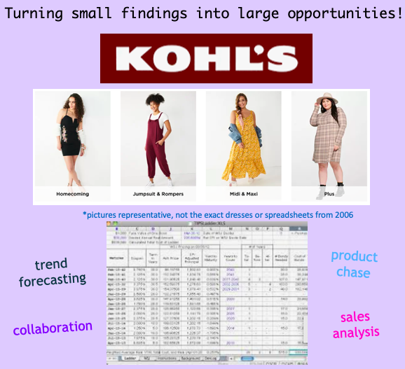 Sales forecasting tool to identify by style need in casual dresses