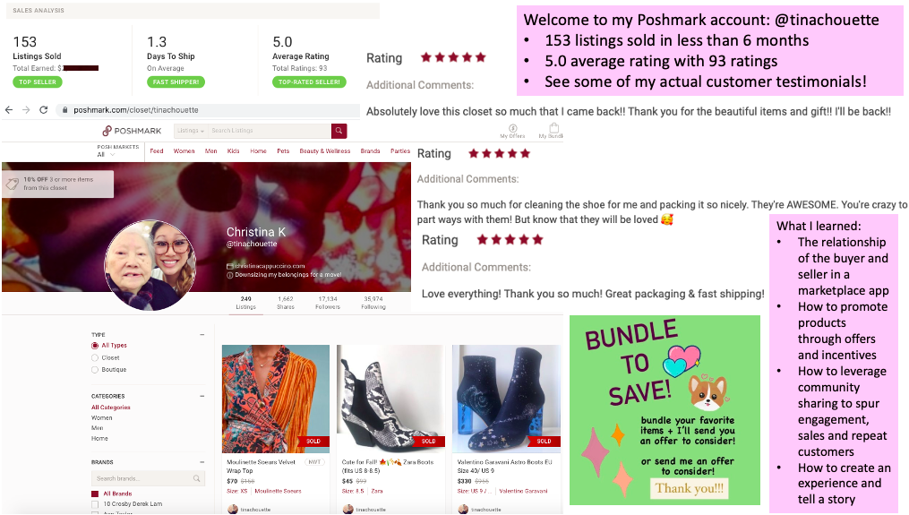 Showcasing how I became a top-rated 5-star seller on Poshmark while downsizing my belongings for a move from NYC to Melbourne, Australia