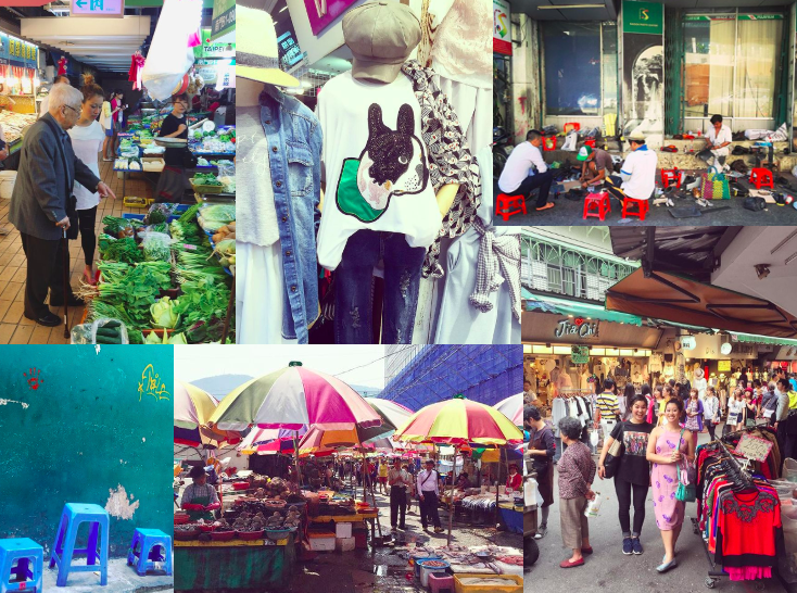 Travels in Asia illustrating the importance of real life marketplaces and the applications to online ones
