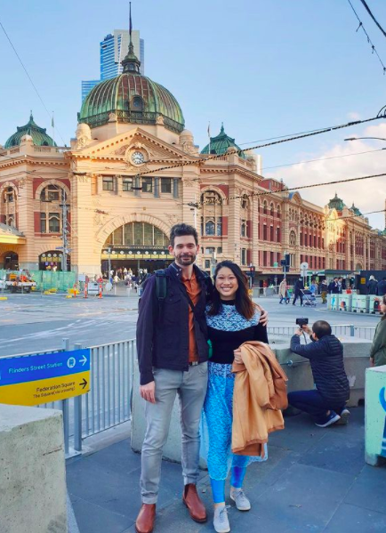 Picture in front of Flinders Street Station