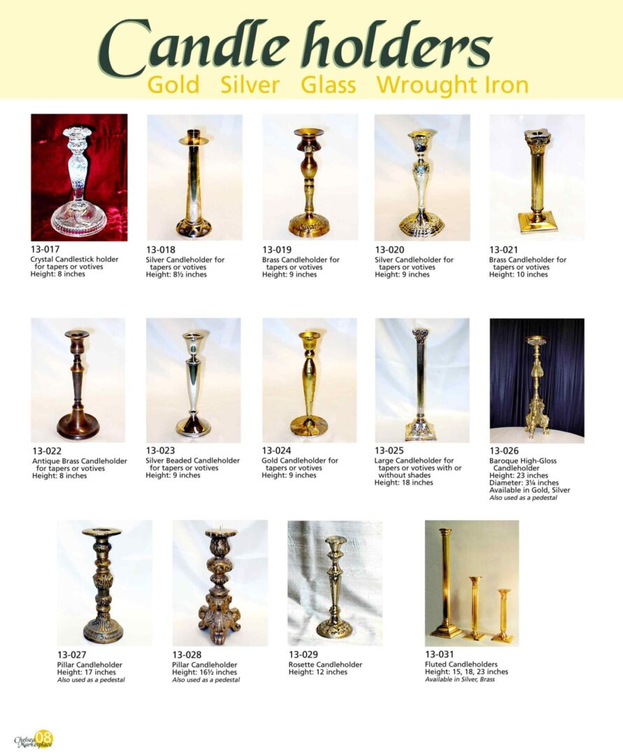 Candleholders as event decorations