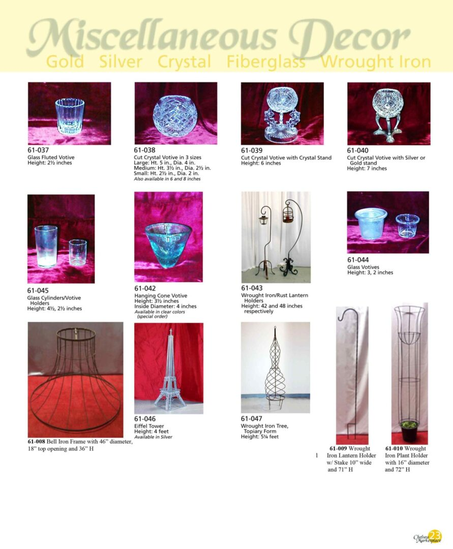 Glass and wrought iron decors