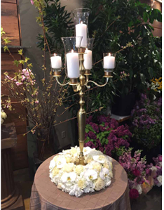Candles on a candleholder