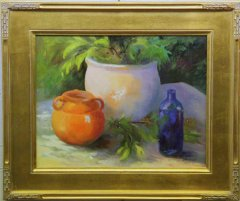 """Orange Pot"", Oil, $300"