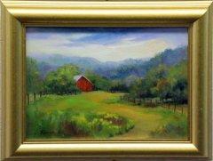 """""""Red Barn"""", Oil, $300"""