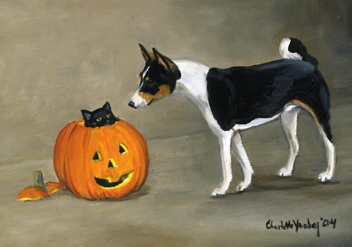 """""""Basenji & Halloween"""""""