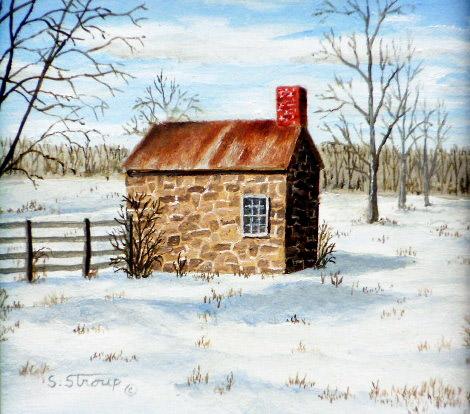 """""""Centennial Road Springhouse"""" - 7x7"""""""