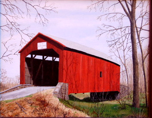 """Chapel Bridge"" - 13x16"""
