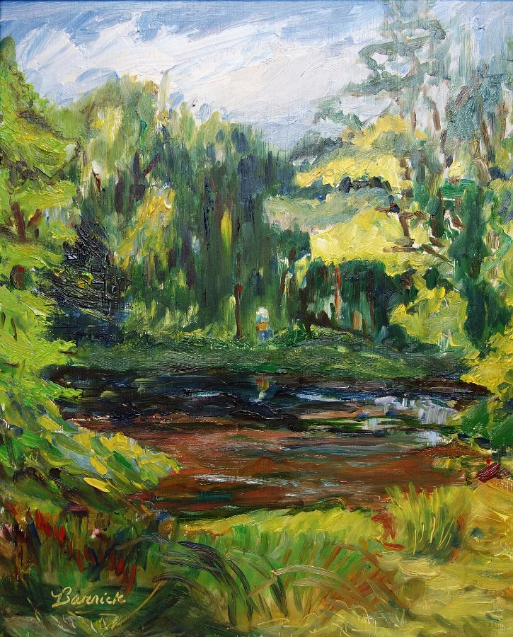 """Julie Painting"" Oil on panel"